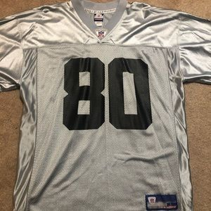 Raiders #80 Jerry Rice Silver Jersey - Large